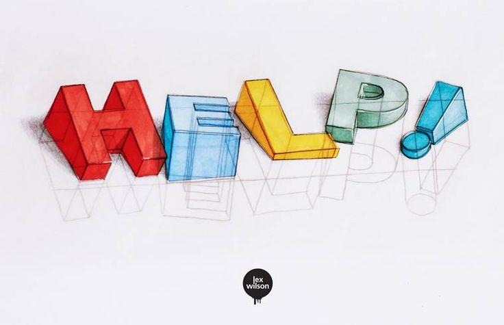 Les superbes typographies 3D de Lex Wilson (image)