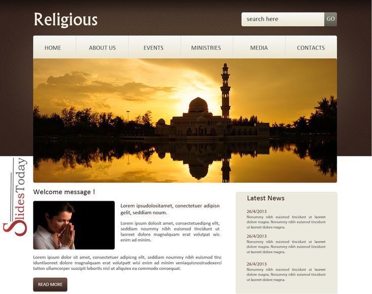 Religious web template