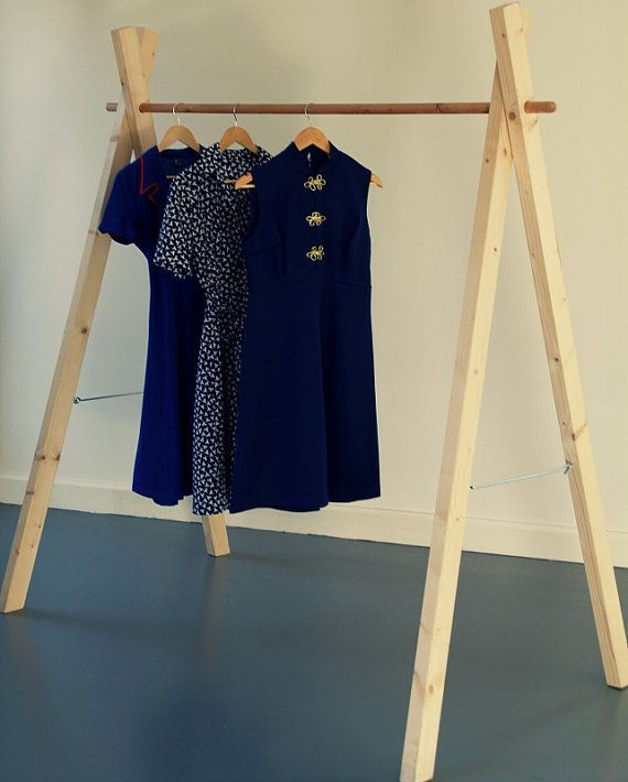 Handmade Wooden Clothes Rack Removable This Sturdy