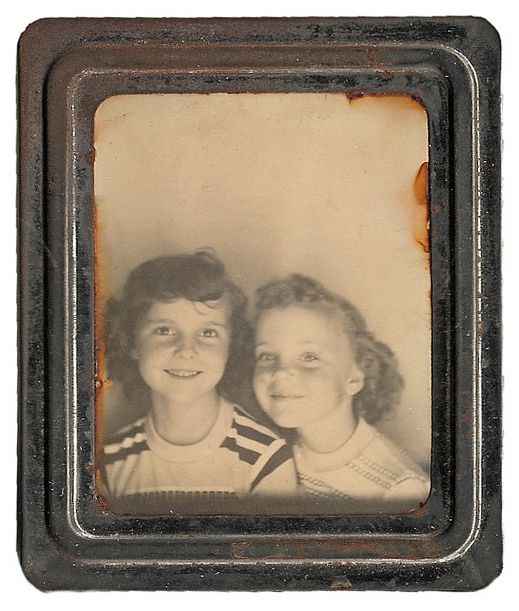 +~ Vintage Photo Booth Picture ~+  Best sister and best friends.