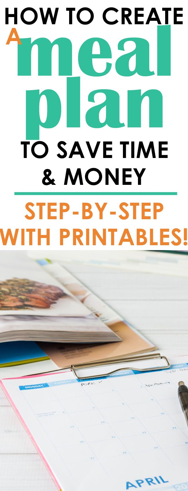 One of my favorite money saving and time saving tips, (but the one that gets the most eye rolls) is meal planning. It is super simple to do, takes just a short time to create one and will save you not only time but money. Surprisingly more money than you think.