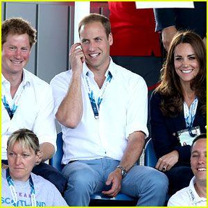 #Photos William, Kate et Harry aux Jeux du Commonwealth le 28 juillet 2014.