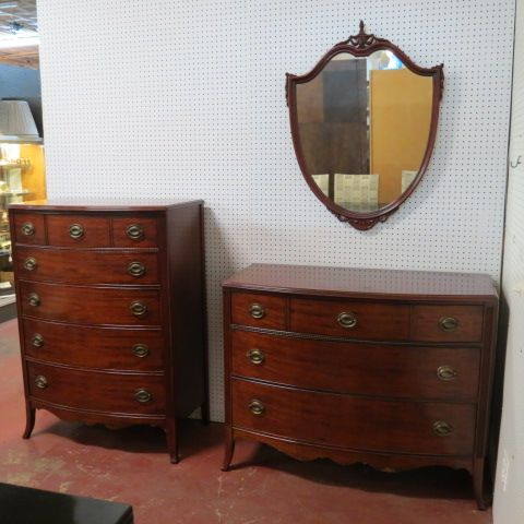 Sold Vintage Antique 3 Piece Mahogany Bedroom Set Circa 1940 The Set Includes Tall