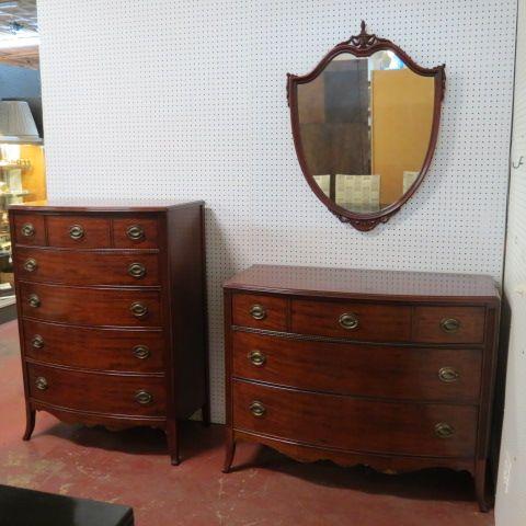 Sold Vintage Antique 3 Piece Mahogany Bedroom Set Circa