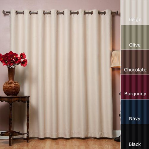 "Best Home Fashion Beige Wide Width Grommet Top Thermal Blackout Curtain 100""W X 84""L 1 Panel - BWW Best Home Fashion http://www.amazon.com/dp/B004AKHOXW/ref=cm_sw_r_pi_dp_tURSub0V3S8XT"