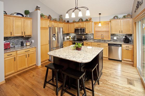 Woodbury Mn Kitchen Remodel Maple Java Contrasting