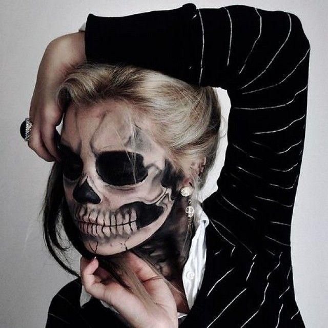 Lady Gag Born This Way / Skeleton Makeup Tutorial