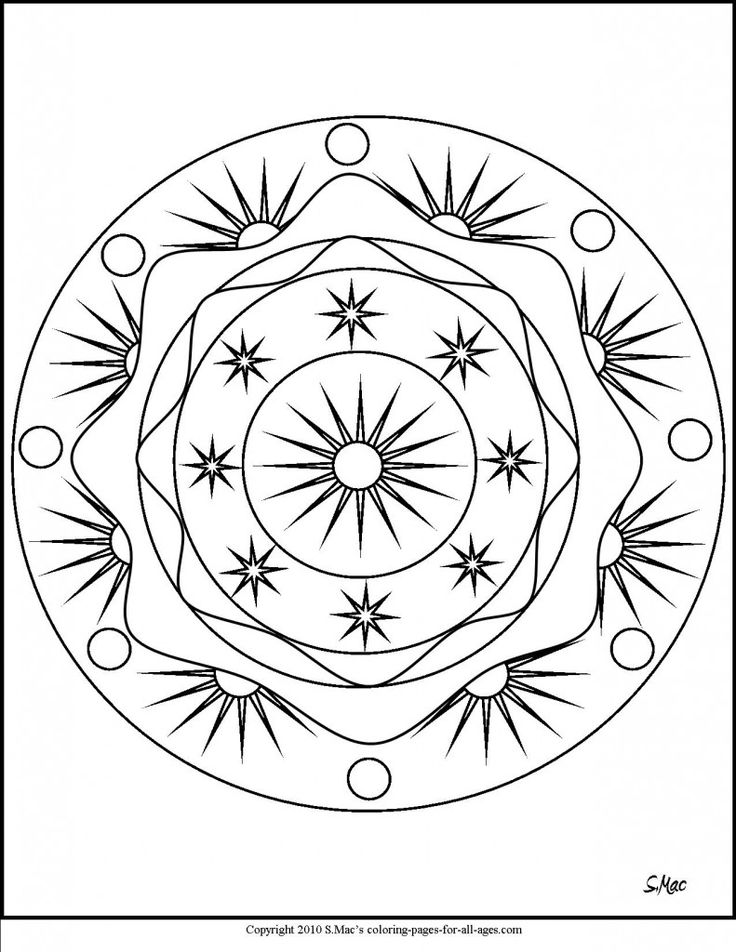 92 best mandalas images on Pinterest Coloring books Coloring