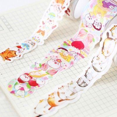 Cute Cartoon Fat Cat DIY Self Adhesive Washi Masking Tape Sticker Craft Decor