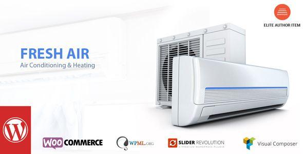 Freshair Air Conditioning Heating Wp Theme Heating Air
