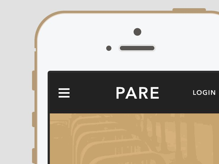 Pare Mobile App Menu Dropdown Animation #gif #ui | User Interface Design