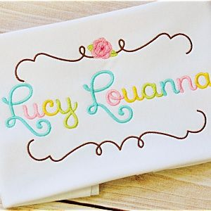 Lucy Embroidery Font Set