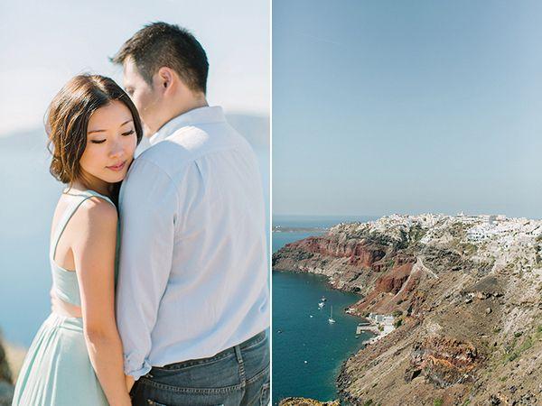 Stylish Santorini Portrait Session - Love4Wed