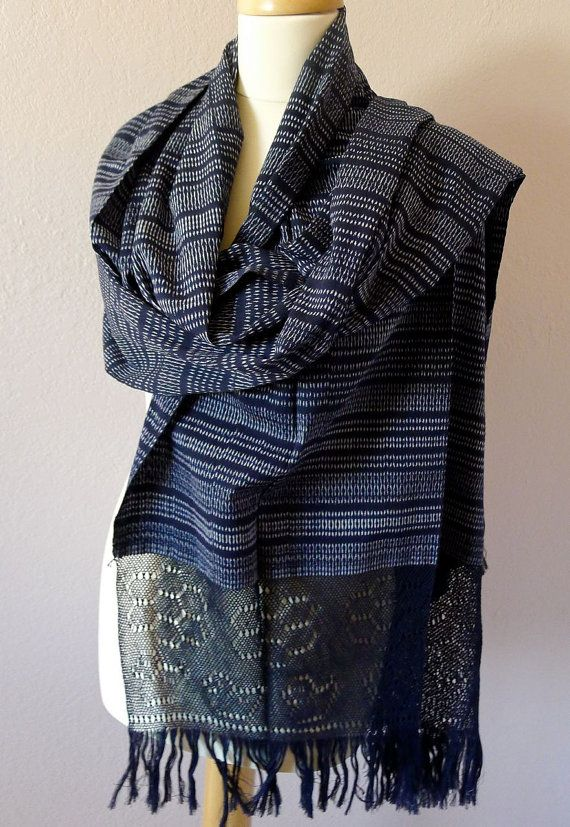 Mexican Traditional Rebozo  Mediano  handwoven  by LivingTextiles, $135.00