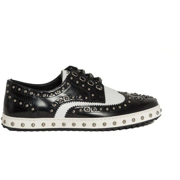 Shoes ($690) ❤ liked on Polyvore featuring men's fashion, men's shoes, menshoeslaced shoes, mens leather derby shoes, mens studded shoes, dolce gabbana mens shoes, mens derby shoes and mens leather shoes