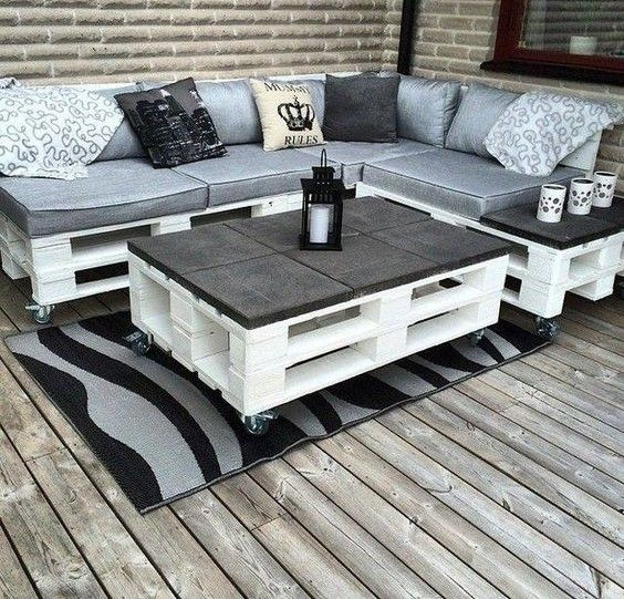 Pallets are pre-cut, good-sized and still in good condition wood boards. It  is also one of the most popular recycling and repurposing materials.  Cleaned, sanded and polished, pallets can be turned into countless  functional and beautiful home implements. A few hours of DIY work with a  good do