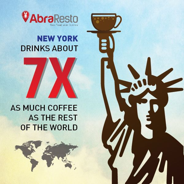 New York Drinks Abourt 7x As Much Coffee As The Rest Of The World