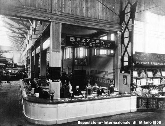 First Espresso Bar, Milan Italy 1906 (x post r/coffee)