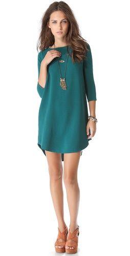 Green shift dress...love!