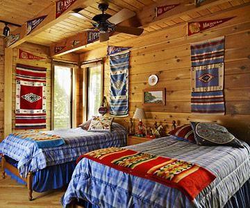 Door County Cabin Makeover Native American Rugs