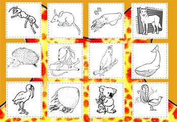 "Australian Animals Alphabet Coloring Pages {""A-Z: AUSTRALIAN ANIMALS COLOURING PAGES""}"