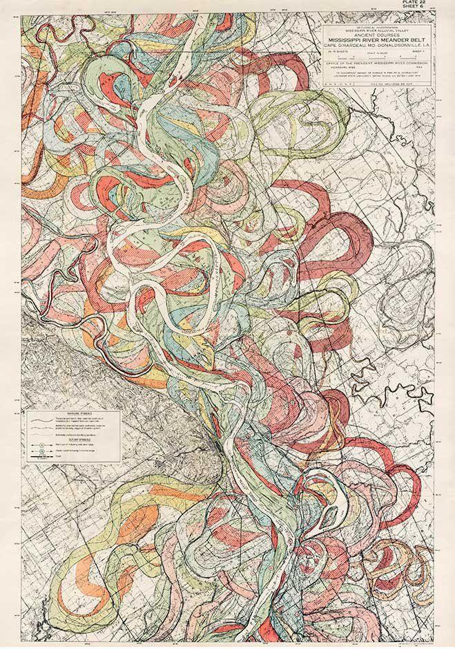 Plate 22, Sheet 6, Ancient Courses Mississippi River Meander Belt
