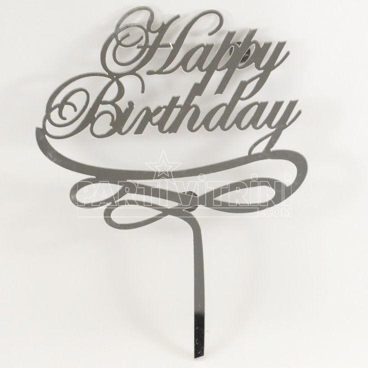 Pleksi ayna pasta süsü ile pastalarınızı süsleyin. Son trend olan bu pasta süsleri ile ister isim ister dileklerinizi yazın :)