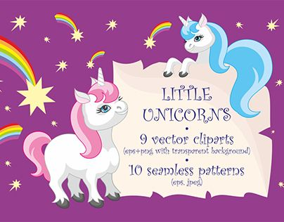 "Check out new work on my @Behance portfolio: ""Little unicorns. Vector clip arts and patterns."" http://be.net/gallery/52099905/Little-unicorns-Vector-clip-arts-and-patterns"