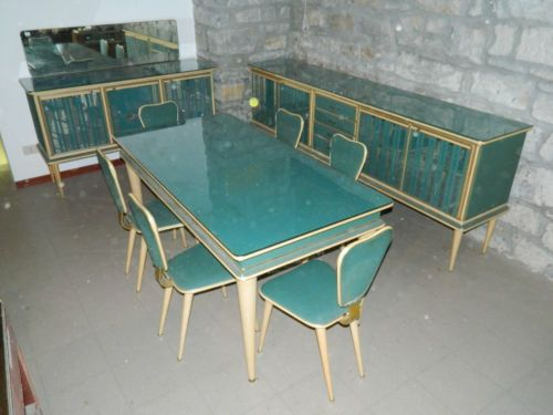 SALA-DA-PRANZO-MOBILI-ANNI-50-VINTAGE-DINING-ROOM  Pretty 1200 euros