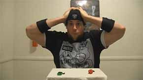 """The """"L.A. BEAST"""" eats not one but two of the world's hottest peppers, the Chocolate Bhutlah. If he thought it was bad going in, wait until the next day when it's coming out... - See more at: http://www.futchduck.com/view/235/la-beast-vs-worlds-hottest-pepper#sthash.PyFkT0aH.dpuf"""