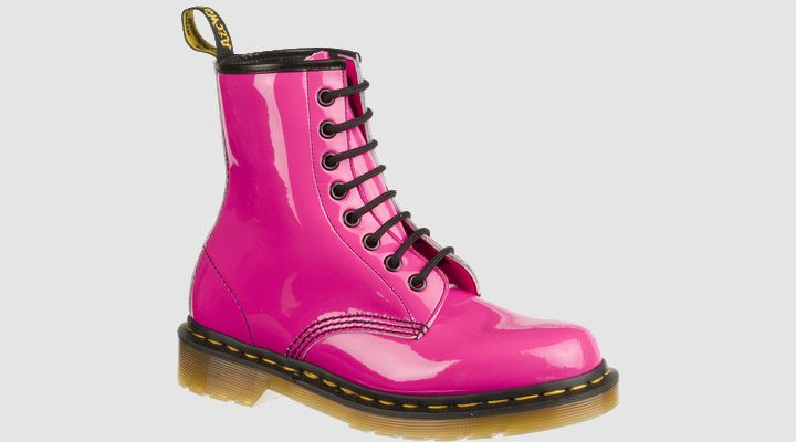 #Domo #thevoice Love Dr Martens WOMENS HOT PINK PATENT LAMPER - Doc Martens Boots and Shoes