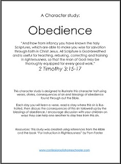 Character Study: Obedience | Confessions of a Homeschooler
