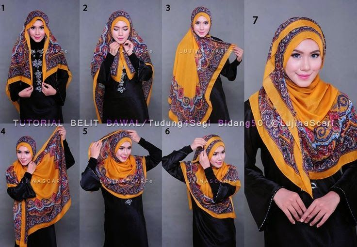 HIJAB FASHION INSPIRATION : Full Chest Coverage Hijab Tutorial