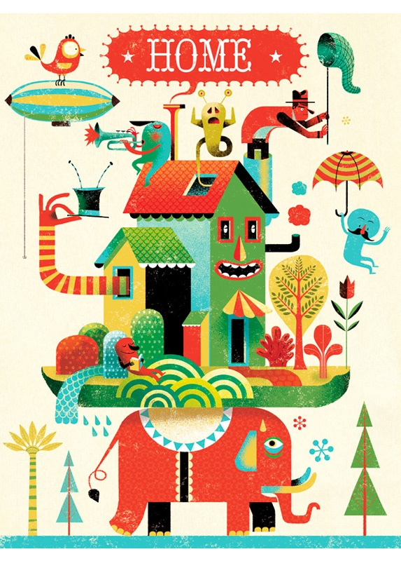 Home Print by Gwen Keraval