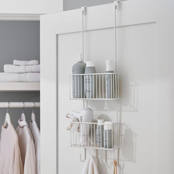 Over The Door Metal Bathroom Organizer White In 2020 Bathroom Organisation Study Furniture Bedding Shop