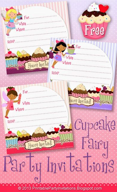 free printable party invitations free printable cupcake fairy party templates