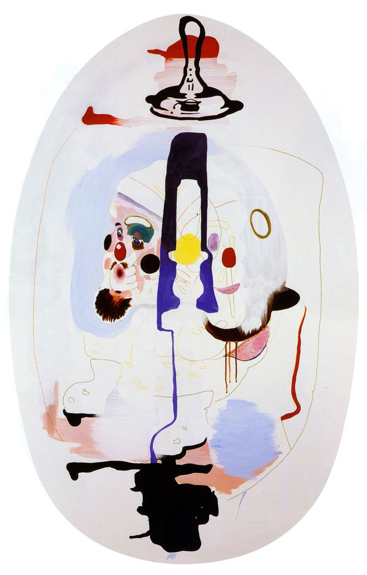 Mike Kelley;  The Thirteen Seasons (Heavy on the Winter) #10: The Decay of Year-End, 1994 acrylic on wood panel, 62.5 x 40