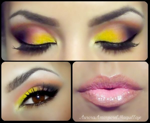 Brunette Skin: This eye makeup has a tutorial: http://youtu.be/MDw374prXEs.