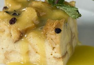 Bread Pudding with Lemon Sauce  Check Please! Chicago
