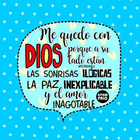 Quédate con Dios en el corazón♥️ #estampalodice