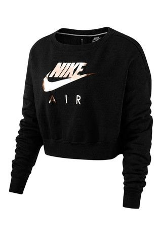 da6dcecc1e84 Nike Sportswear Air Rally Crew in Black and Rose Gold