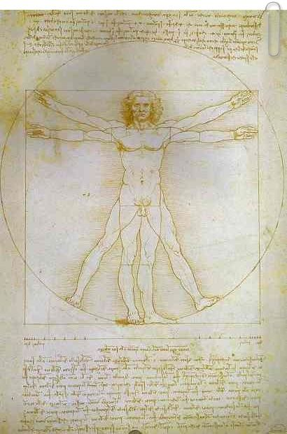 The Proportions of the Human Figure (Vitruvian Man) by Leonardo da Vinci