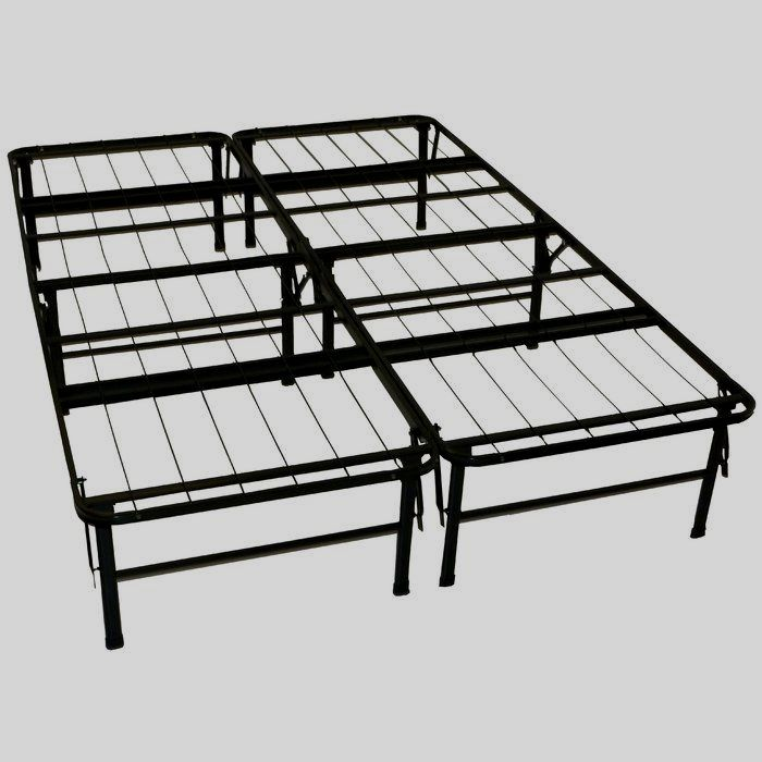 Metal Bed Frame, Foldable Queen Bed Frame With Storage