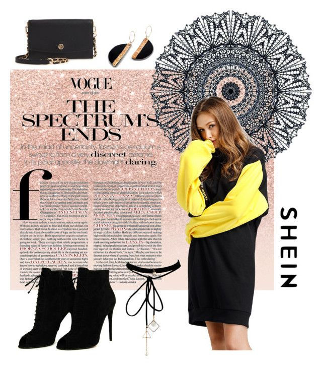 """S H E I N"" by scodinoa ❤ liked on Polyvore featuring Glitter Pink, Tom Ford, WithChic and Tory Burch"