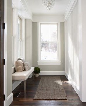 Evolution of Style: 2015 Color Forecast - Sherwin Williams----Love this color: Roycroft Mist Gray, SW2844. Roycroft Mist Gray is a beautiful neutral gray/taupe in this palette. I'm guessing this is one of those colors that is really versatile with the changing light of day.