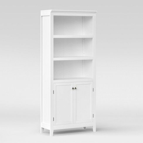 72 Carson 5 Shelf Bookcase With Doors Threshold With Images