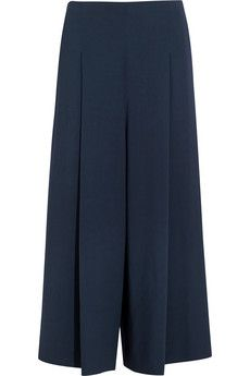 This is a great look for fall. LOVE THE COLOR! The Row Loja cropped stretch-cady wide-leg pants | NET-A-PORTER