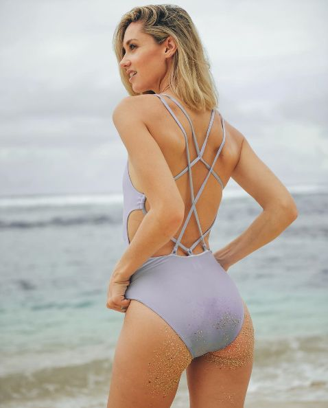 @nikkiphillips in our Ice Blue Strappy Back One Piece  #desertmuse #suboostyle #ss16 #onepiece #swimwear #swim #holiday #beachwear #beach #summer #vacation #backdetail #strappyback #style #fashion #island #getaway