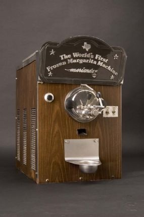 The frozen margarita machine was invented in Dallas in 1971, this original frozen margarita machine was built on an ice cream machine and had its roots in the Slurpee!