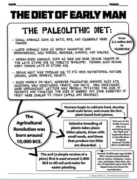 Agricultural Revolution, Paleolithic & Neolithic Diet! Cre